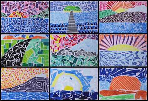 How To Make A Paper Mosaic Collage - with mr mosaic landscapes