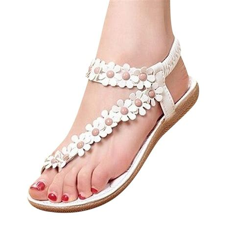 Flat Sandal Premium Quality Garsel L374 summer ribbon flat sandals for simple fashion style