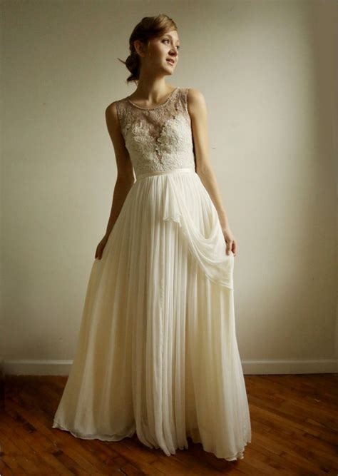 Vintage Inspired Wedding Dresses by Vintage Wedding Dresses Iris Gown