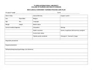 nursing care plan templates 20 free word excel pdf