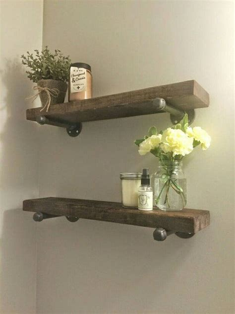 bathroom wall shelves wood rustic wood shelves reclaimed wood shelf bathroom