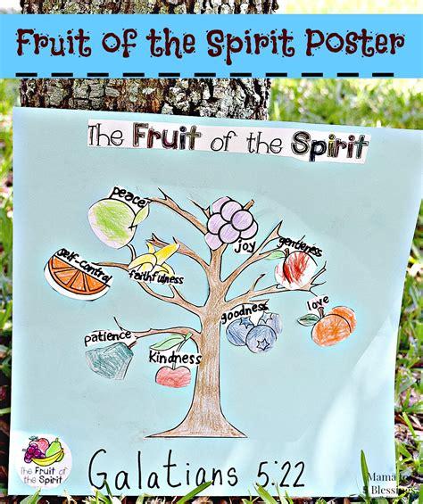 fruit of the spirit diy fruit of the spirit poster kidscraft