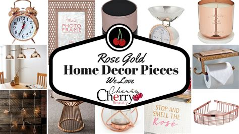 home decoration pieces rose gold home decor pieces we love cherrycherrybeauty