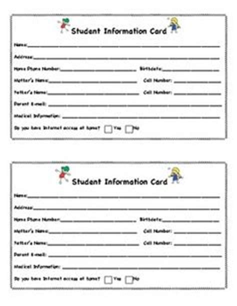 Parent Information Card Template by Letter From Student To Parent And Parent To Student For