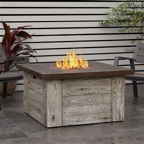 real flame forest ridge   square propane fire pit