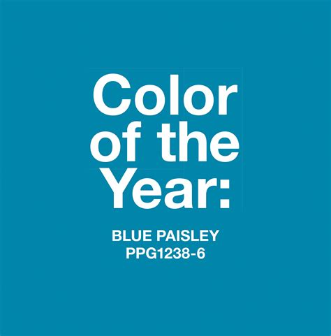 blue paisley named 2015 color of the year by ppg p ppg paints coatings and materials