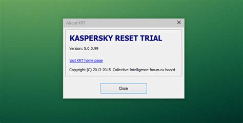 kaspersky reset trial 2016 italiano kazpersky trial reset krt v5 0 0 99 new reset the
