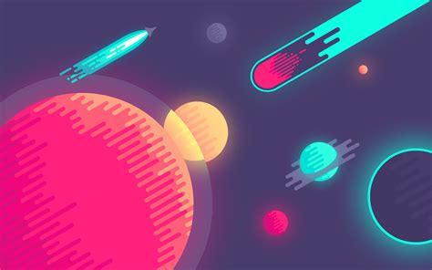 computer user wallpaper dribbble space desktop jpg by nina geometrieva