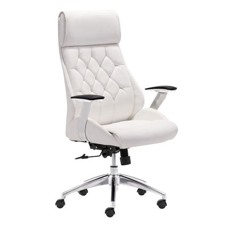 white modern desk chair with fancy boutique office chair