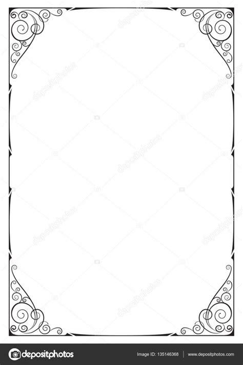 formato cornici cornice nera ornato floral vignette angoli pagina in