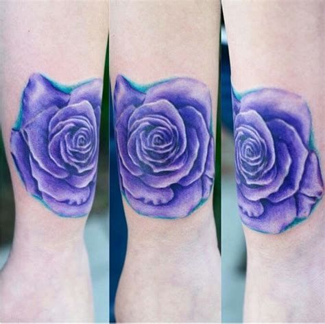 violet and rose tattoo purple tattoos colors the o