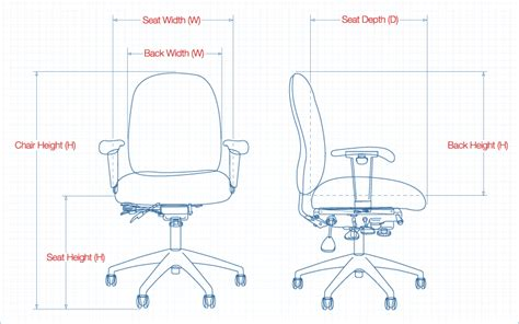 Office Chair Seat Dimensions Tnd941a Rd Office Ave Six Office Chair In