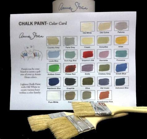 sloan chalk paint color chart craft ideas