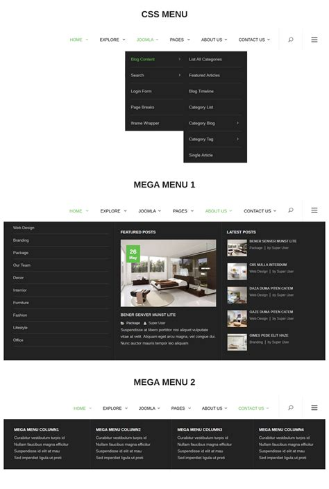 template joomla menu flooring an ideal responsive joomla template for