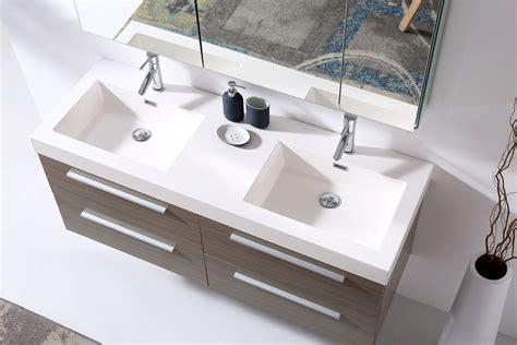 54 inch bathroom vanity double sink 54 inch double sink floating bathroom vanity grey oak