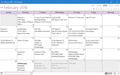onenote calendar template onetastic add in for onenote puts your notes in a calendar