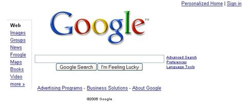 design google page in html google operating system july 2006