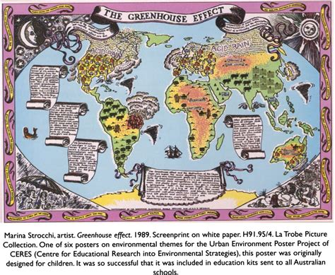 themes of environmental education marina strocchi artist greenhouse effect 1989