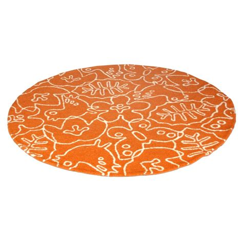 white and orange rug seasons rug in white and persimmon orange by not neutral