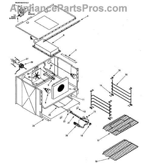 jenn air oven parts diagram parts for jenn air prg3010np oven parts