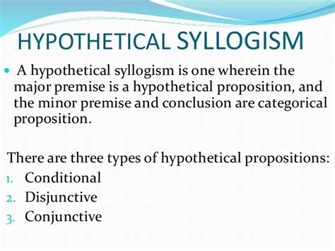 what is a one hypothetical syllogism