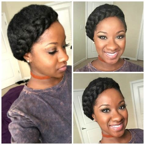 halo crowngoddess braids on natural hair black girl with goddess halo braid tutorial kimberly white natural hair