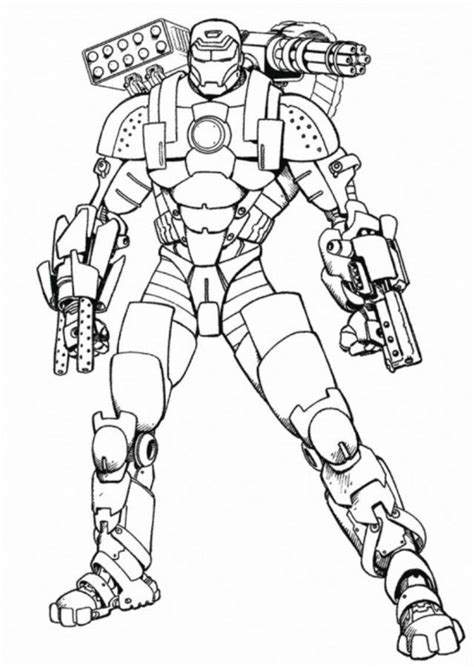 printable iron man coloring pages  kids