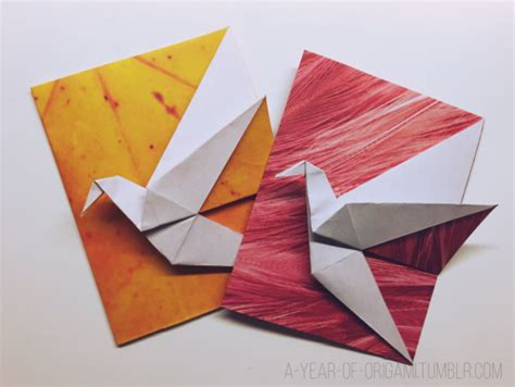 Origami Crane Card - a year of origami