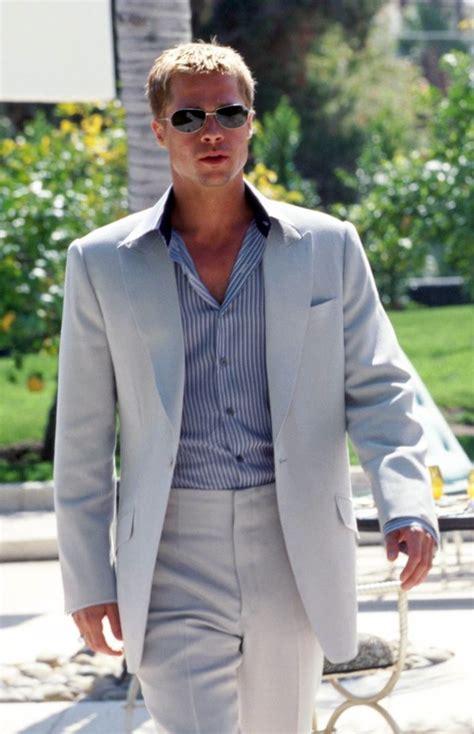 Rusty S Light Gray Summer Suit In Ocean S Eleven Bamf Style Brad Pitt Oceans Eleven