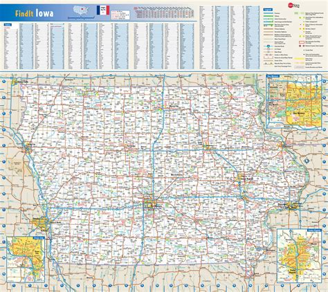 detailed map of iowa map of iowa towns world map 07