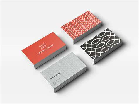 Sushi Gift Card - karma sushi corporate design by kasper gram