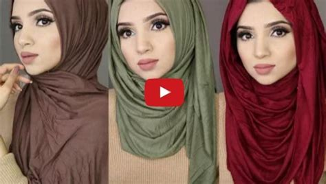 3 Simple Hijab Styles Using Jersey Material