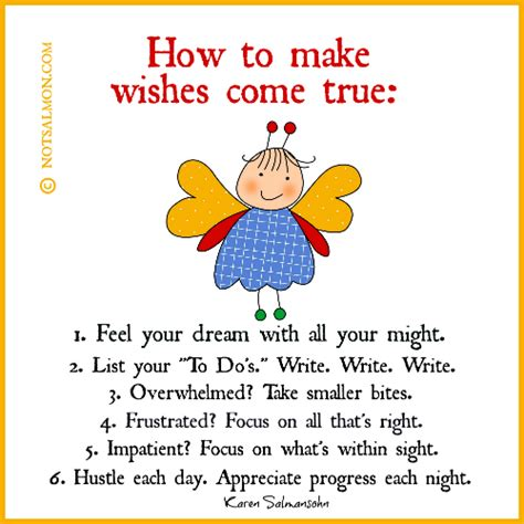 how to to come how to make wishes come true salmansohn