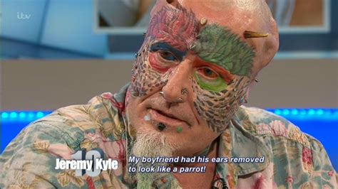 jeremy kyle show the parrot man ted richards makes
