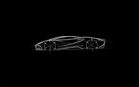 black and white drawing wallpaper digital art minimalism black background sports car
