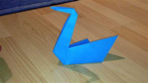 Origami Schwan - schwan aus papier basteln origami schwan falten