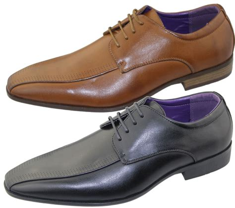 mens office brogues shoes wedding casual smart dress