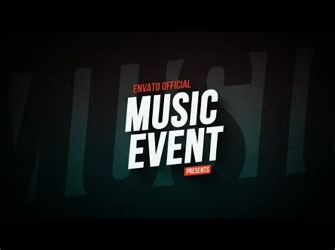 templates after effects music music event promo after effects template youtube