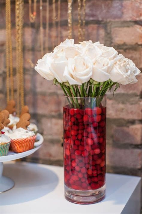 Clear Vase Centerpiece Ideas by Best 25 Cranberry Centerpiece Ideas On