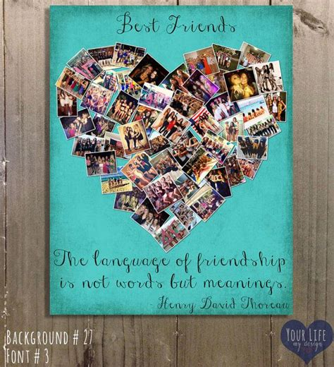 best photo gifts gift for best friends personalized gift photo collage