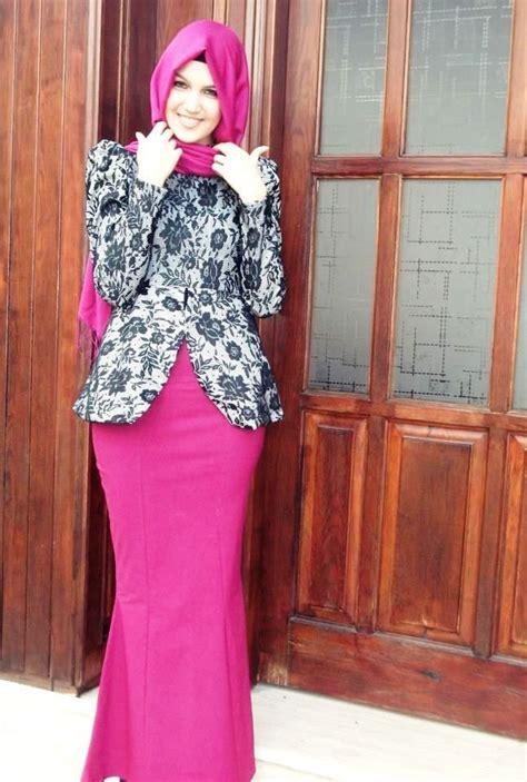 Gamis Remaja Putri Terbaru ッ 40 model baju batik remaja putri muslim lengan panjang