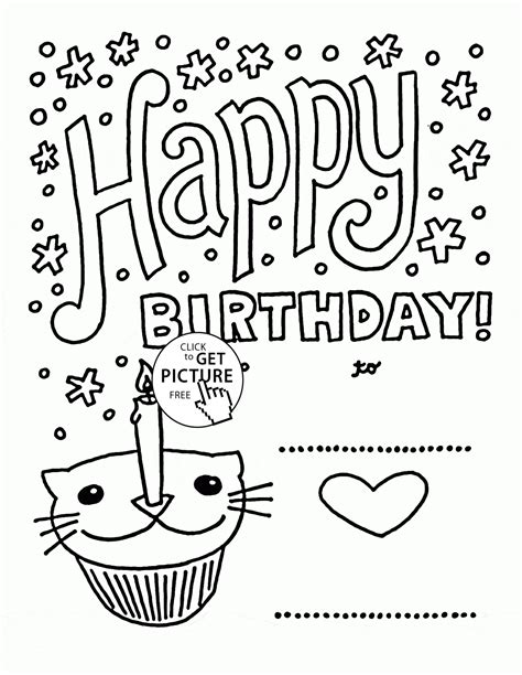 happy birthday cat coloring page happy holidays coloring pages printable az coloring pages