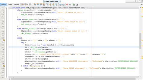 membuat database di java cara membuat tombol simpan di java netbeans ke database