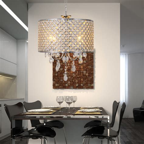 modern new drum chandelier with 4 lights light for