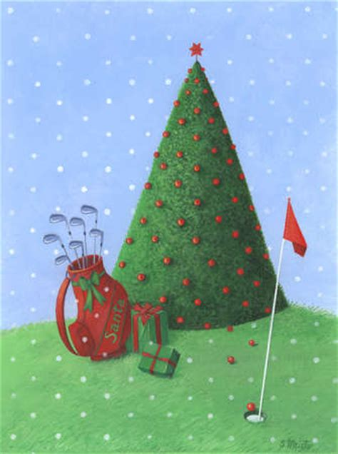stock illustration golf christmas