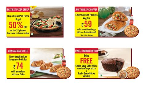 restaurant deals dominos restaurant deals pizza coupons offers and
