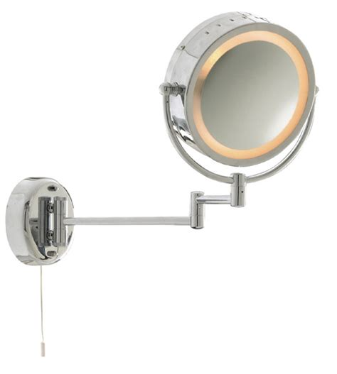 adjustable bathroom wall mirrors 11824 bathroom round mirror with adjustable arm and pull cord switch in polished chrome