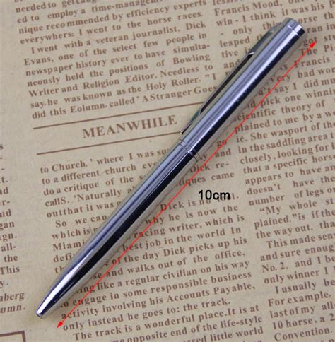 mini metal dayanikli tuekenmez kalem cep boyutlu