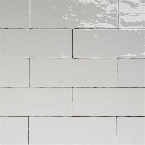 subway tiles white handmade white gloss natura wall subway tiles 396 215 130 in stretcher bond design eco tile factory