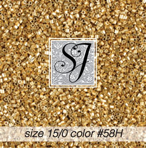 size 15 seed size 15 0 seed color 58h gold hex cut 1858h sj